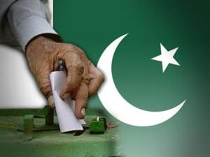 A ballot paper being inserted in the ballot box in Pakistan General Elections 2013