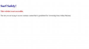 Website Censored by the Government of Pakistan