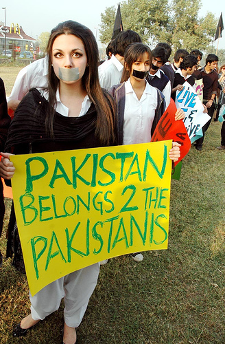Protesting against Human Rights Violation in Pakistan