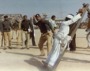 Public  flogging in Pakistan during the Zia regime
