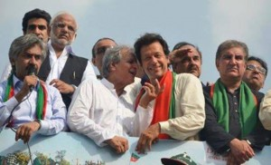 IK in Azadi March