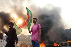 Attack on PTV building in Islamabad by PTI and PAT workers.